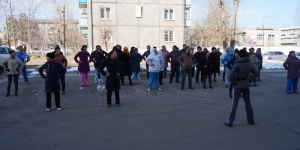 Зарядка сотрудников диспансера 10.04.2015